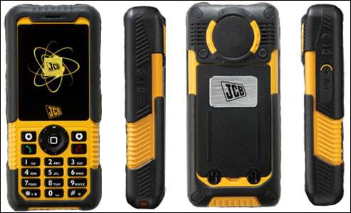 jcb sitemaster 2 toughpones image showing front, back and side views of handset