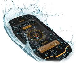 NGM Explorer image showing handset submerged in water. water resistant handset