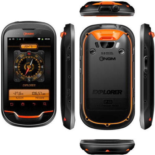 NGM explorer image showing handset from every angle
