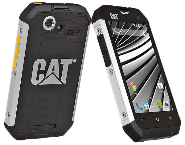 cat b15q toughphones image of front and back of water proof handset