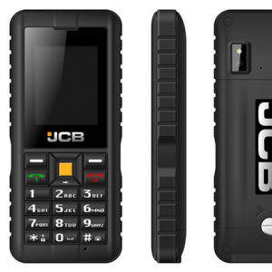 jcb tradesman 2 image showing front, back and side of water proof phone