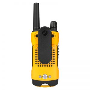Motorola Radio T80 image showing back and clip