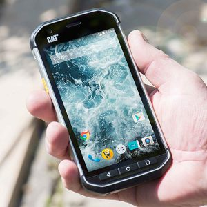 CAT S40 smartphone has a super bright display