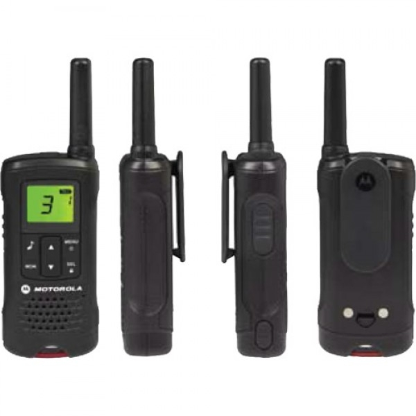 motorola t60 image showing front, back and sides of tough radio
