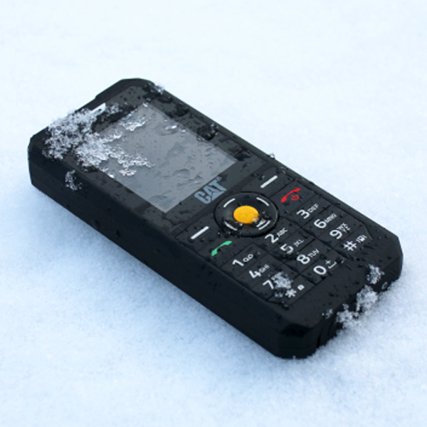 CAT B30 has a rubberised grip and a simplified interface
